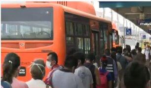Estación Naranjal cerró a las 6:00 p.m. por el nuevo horario del toque de queda