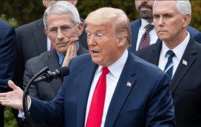 """Donald Trump: """"Si nos quedamos en 100 mil muertos habremos hecho un gran trabajo"""""""