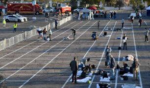 Coronavirus en Estados Unidos: indigentes duermen en suelo de estacionamiento de Las Vegas
