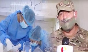 Así produce su propio gel antibacterial la Fuerza Aérea del Perú