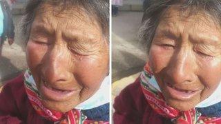 Policías se unen para llevar víveres a anciana que lloró porque no recibió bono de S/ 380