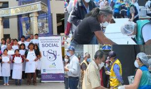 MML y USIL entregan dos mil raciones diarias de alimentos en Cercado de Lima