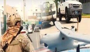 Fuerzas de operaciones especiales de la FAP patrullan por tierra y por aire las calles de Lima