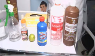 Mezclar productos desinfectantes puede ser peligroso para la  salud