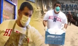 Dueño de restaurante hace donaciones en asentamiento humano