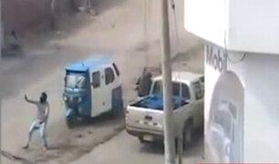 VES: asaltan a balazos a repartidor durante toque de queda
