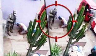 Soldado se dispara en el pie por accidente en pleno operativo