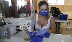 Gamarra: fabrican mascarillas para donarlas a personas vulnerables