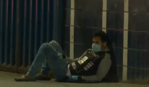 Coronavirus: hombre con presuntos síntomas se desploma en calle del Callao