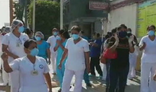 Hospital Vitarte: personal exige implementos de bioseguridad contra Covid-19