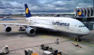 Coronavirus: línea aérea Lufhtansa anuncia reducción de flota