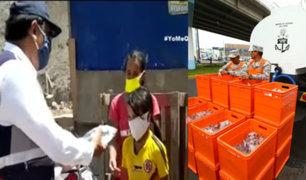 Marina de Guerra y Sedapal entregan agua desalinizada a la población