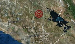 Puno: sismo de magnitud 4.1 se registró esta tarde en Juliaca