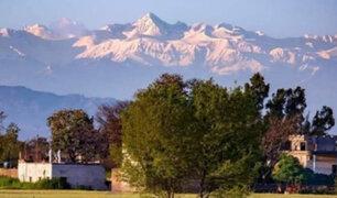 Himalaya se logró ver por primera vez desde la Segunda Guerra Mundial