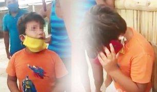Niño ecuatoriano varado en Tumbes pide ayuda para regresar con su familia