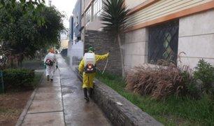 Lince: desinfectan alrededores de inmueble donde falleció presunta víctima de coronavirus