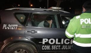 Puno: detienen a policía bebiendo licor con dos amigos en plena cuarentena