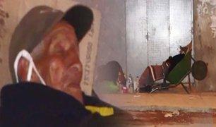 San Juan de Miraflores: anciano es abandonado en la calle en plena cuarentena