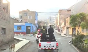 Operativo policial en Comas: irresponsables son detenidos por desobedecer cuarentena