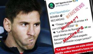 Lionel Messi desmintió que vaya a jugar en el Inter de Milán