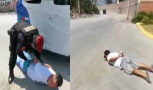 """Capturan a dos asaltantes de pasajeros de bus """"El Chosicano"""" en Santa Clara"""