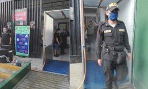 Ica: instalan cámara de desinfección en comisaría de Chincha