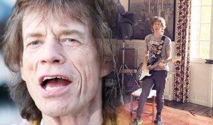 Mick Jagger mostró a sus seguidores como pasa la cuarentena