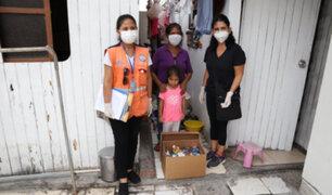 Municipalidad de Miraflores entregó canastas a familias en extrema pobreza