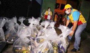 Vecinos de San Juan de Miraflores recibieron 1,400 canastas de víveres