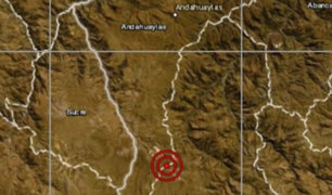 Sismo de magnitud 5.2 se registró esta mañana en Apurímac