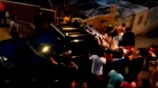 Saquean camioneta que trasladaba canasta de víveres para personas de extrema pobreza