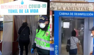 Covid-19 en Perú: Instalan túneles de desinfección para ingresar a mercados