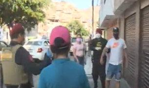 SJL: hoy la policía multará a los infractores que se encuentren fuera de sus casas