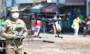 Coronavirus: Ejército usa dron con cámara térmica para detectar posibles contagiados
