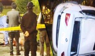 Conductor de vehículo de alta gama muere en accidente en La Molina