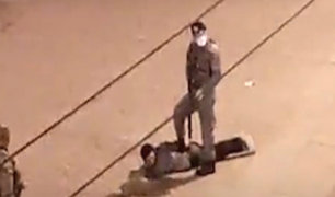 SJL: militares detienen a hombre incumpliendo toque de queda