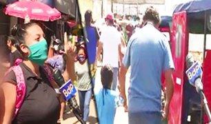 Caos y aglomeración en mercados ambulantes de San Juan de Lurigancho