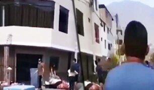 SJL: desalojan a balazos a una familia de venezolanos por no pagar alquiler