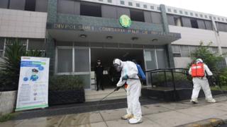 Covid-19: Empresa privada desinfecta comisaría, patrulleros y efectivos policiales