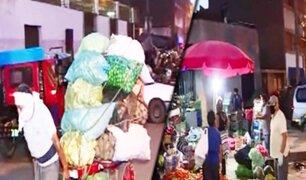 """Hoy desinfectarán """"La Parada"""" pero muchos comerciantes intentan abrir sus puestos"""