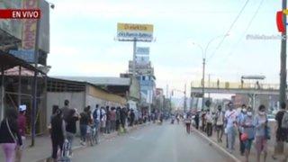 """Puente Piedra: se forman largas colas para ingresar al mercado """"Huamantanga"""""""