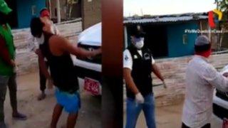 """Castigan a cuatro personas a """"latigazos"""" por incumplir cuarentena en Chiclayo"""