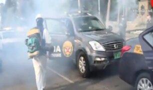 Santa Beatriz: desinfectan autos de la comisaría de Petit Thouars ante el estado de emergencia