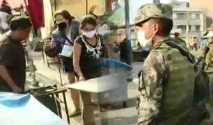"""Militares ponen orden y realizan desalojo en """"La Parada"""""""