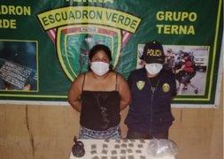 Policía de Áncash capturó a mujer que vendía marihuana en plena cuarentena