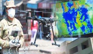 Ejército usa drones con cámara térmica para detectar posibles contagiados con Covid-19