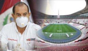 Ministro de Defensa no descarta que el fútbol regrese en el 2020 sin público