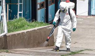 Áncash: intensifican desinfección de hospitales, mercados y calles