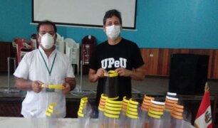 Sede de la UpeU en Tarapoto donó 50 viseras protectoras a personal sanitario