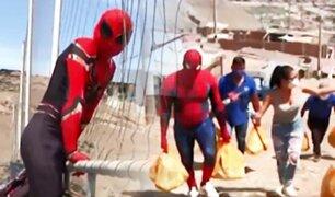 """De los cómics a las alturas de """"Mi Perú"""": conozca a los Spidermans solidarios"""